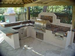 Outdoor Island Lighting Outdoor Kitchen Bbq Kitchen Design Intended For Bbq Kitchen Island
