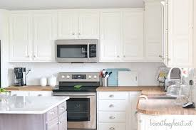 how to paint oak cabinets white kitchen makeover reveal beneath my heart