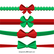 christmas ribbons collection of christmas ribbons in flat style vector free