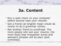 Spell Resume A Guide To Resume Writing Ppt Download