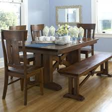 Kitchen Table With Bench Seating And Chairs - bench style dining table sets bench style dining table uk dining