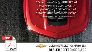 camaro quotes 2012 camaro zl1 dealer reference guide specs and more pdf