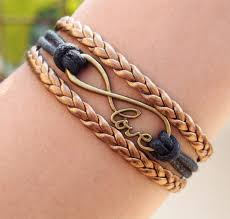 infinity braid bracelet images Braided leather bracelet for men big infinity with love letters jpg