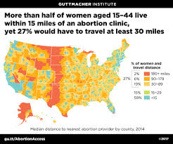 Women in southern illinois must travel longer distances to