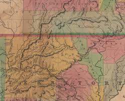 ozarks map ozarks history izard county arkansas territory