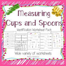 measuring cups and spoons identification worksheets special