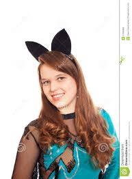 teen wearing halloween bat costume royalty free stock images