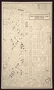San Francisco Street Map by San Francisco Map San Francisco Street Map Vintage Wall Art