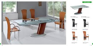 pretty rectangular glass top modern dining table with single