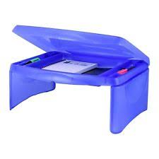 Lap Desk With Storage Compartment Trolley Folding Portable Laptop Table Desk Stand Sofa Bed Tray