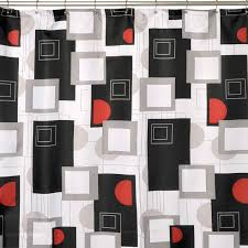black and red urban beat shower curtain at home at home