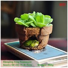 everyday collection garden ornament frog flowerpot bonsai outdoor