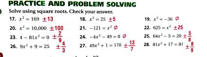 solving quadratic equations practice 10 4 tessshebaylo