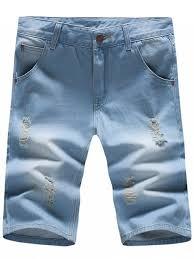 mens light blue shorts stylish light wash slim fit denim blue jeans shorts for men light