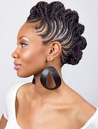 braided updo hairstyle african american braided