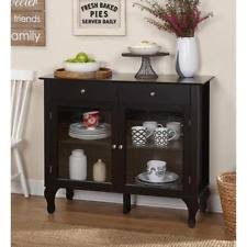 cabinet storage dining room buffet server table drawers sideboard