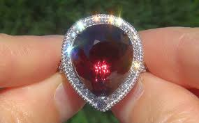 chagne engagement ring 33 27 ct unheated color change garnet ring