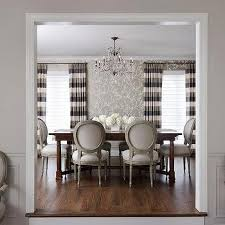 Tan And White Horizontal Striped Curtains Striped Chairs Design Ideas