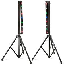 adj sweeper beam quad led 64w rgbw moving bar light stand package