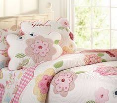 daisy garden quilted bedding pottery barn kids quilts sewing