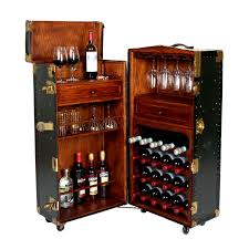 Portable Bar Cabinet Vintage Steamer Trunk Bar Cabinet Top Drinks Steamer Trunk And