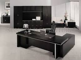 modern popular office furniture black wooden executive desk
