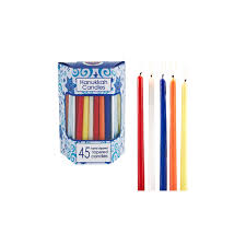 hanukkah candles colors 45ct hanukkah candles assorted colors hanukkah and products
