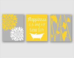 modern bath art modern floral flower artwork set of 3 trio