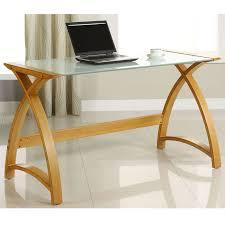 Laptop Desks Uk Curve 2 Oak Laptop And Extension Desk Officesupermarket Co Uk