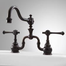 bridge style kitchen faucets vintage bridge kitchen faucet with lever handles rubbed