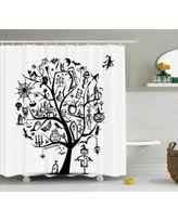 spectacular deal on halloween decorations shower curtain scary