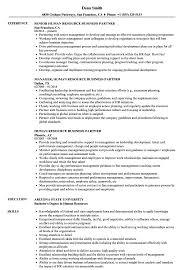 human resource resume human resource business partner resume sles velvet