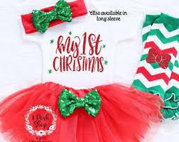 my christmas baby girl baby clothing sets etsy