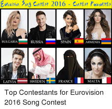 Russian Song Meme - urovision song contast 2016 contest favour tas bulgaria russia spain