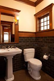 with its richly colored tile the powder room has an arts u0026 crafts
