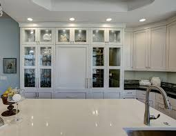 rustic glass kitchen cabinets transitional gray kitchen remodel home bunch interior
