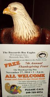 buzzards bay eagles welcome all to thanksgiving dinner news
