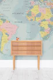 the 34 best images about kids bedrooms on pinterest after a playful yet educational wallpaper design for your little one this world map wall