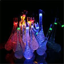 shop garden light l 20led icicle lights solar powered