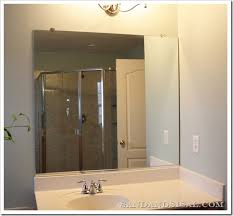 how to frame a bathroom mirror with clips how to frame a mirror sand and sisal