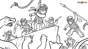 33 dessins de coloriage Ninjago à imprimer