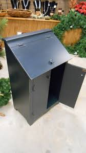 95 best trash bins images on pinterest trash bins primitive trash can holder open doors to take the trash can out and at the top