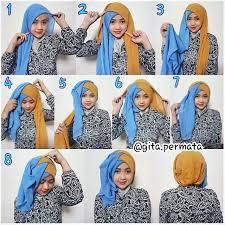 tutorial jilbab dua jilbab tutorial cara memakai hijab untuk wisuda fashion muslim fashion