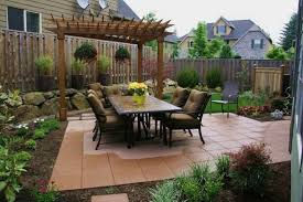 Backyard Ideas Patio by Front Yard Landscaping Ideas With Outdoor Black Patio Chairs And