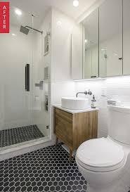 before u0026 after a sleek new look for a compact brooklyn bathroom