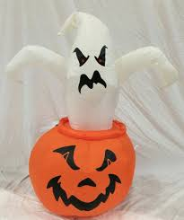 Gemmy Halloween Inflatable by Gemmy Halloween Ghost In Jack O Lantern Inflatable Airblown