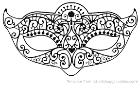 Mask Template by Mask Coloring Pages Mardi Gras Mask Template And Carnival Mask In