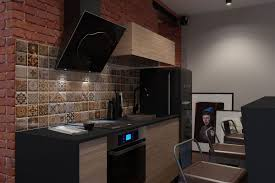 innovative industrial and space savvy tiny bachelor pad does it all