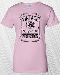 gifts for turning 60 years 60th birthday gift vintage 1958 60 years of perfection