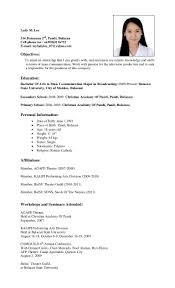 Example Of Resume For Students by Sample Resume Hrm